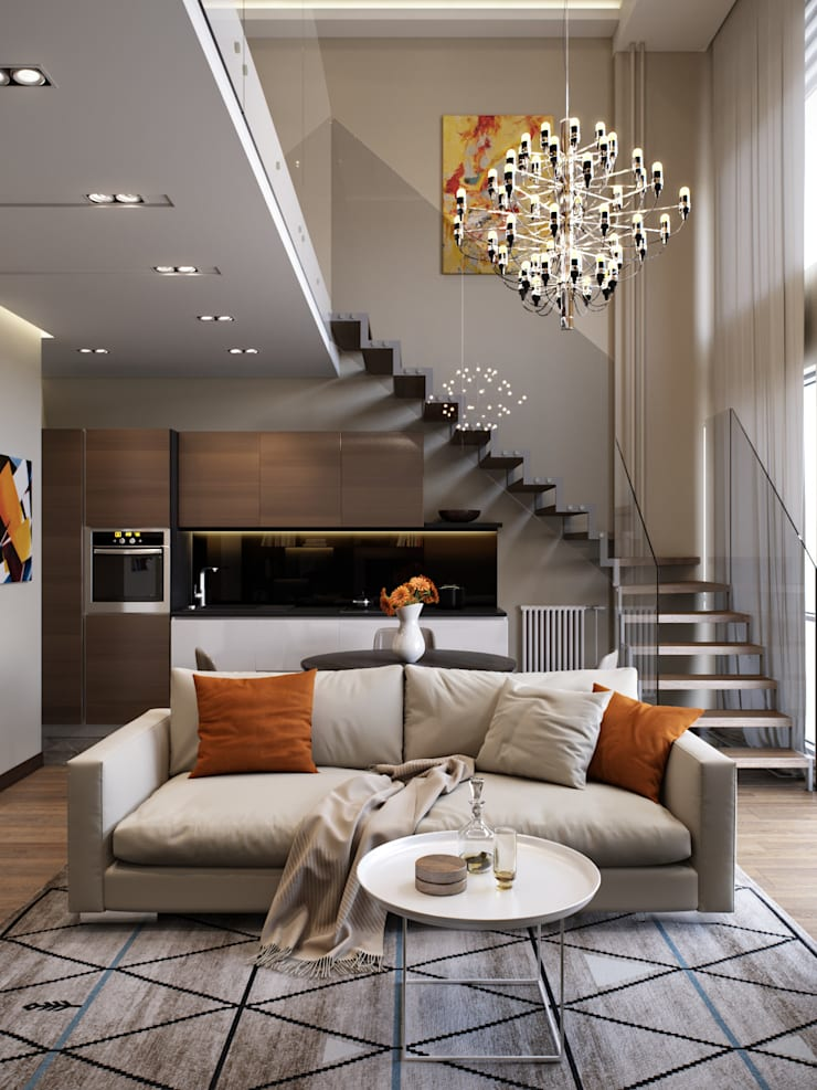 Living room by EJ Studio, Modern