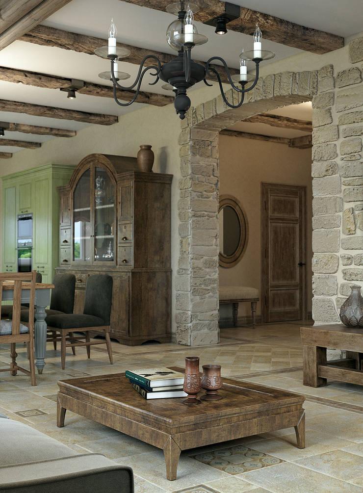 Mediterrane Wohnzimmer von EJ Studio Mediterran