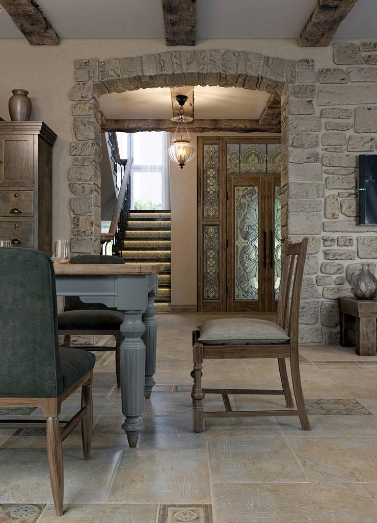 Salas de estilo mediterraneo de EJ Studio Mediterráneo
