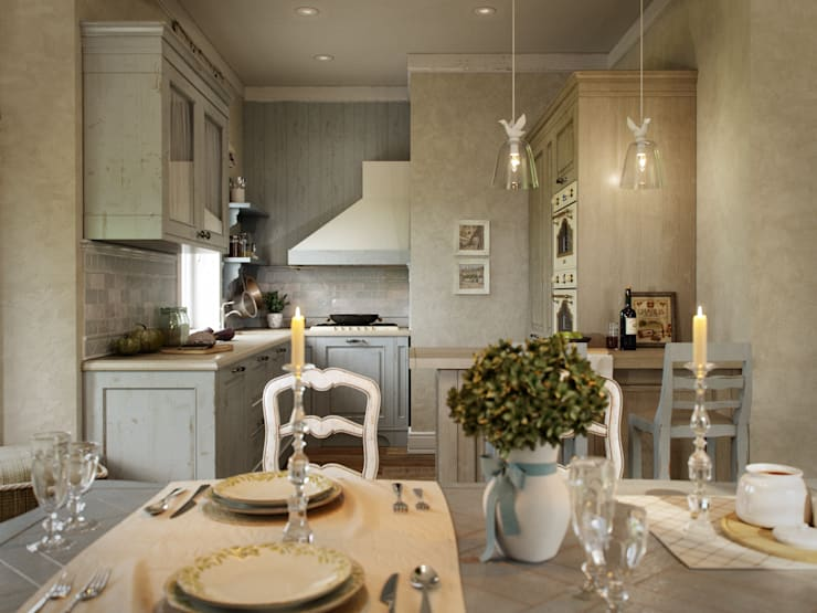 Kitchen by EJ Studio, Country