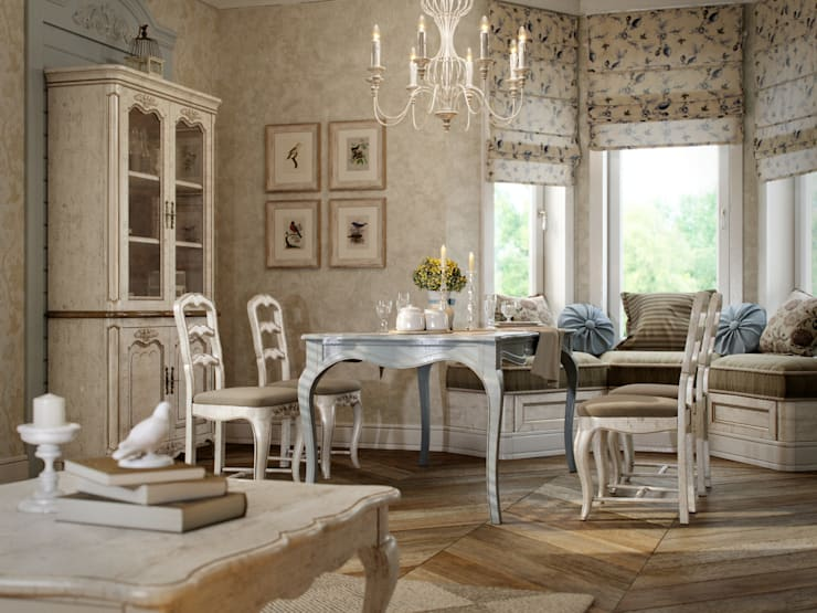 Dining room by EJ Studio, Country