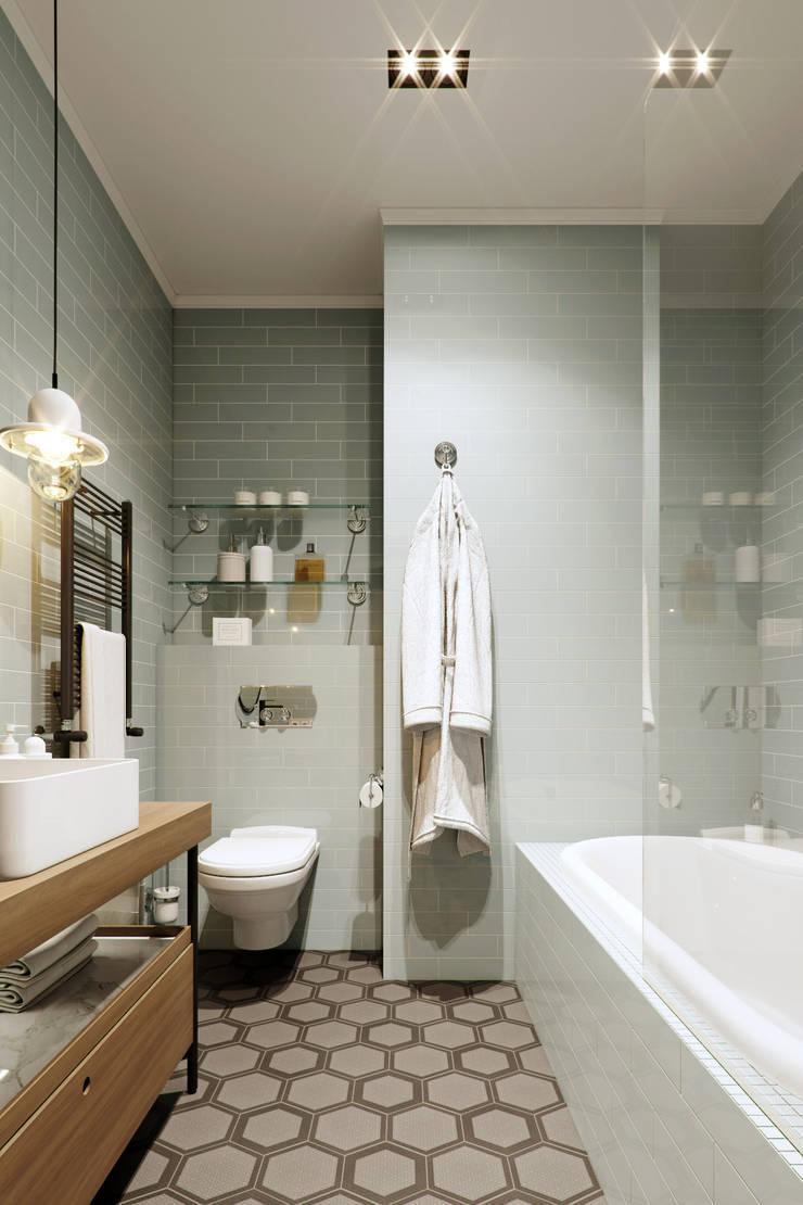 Bathroom by EJ Studio, Eclectic