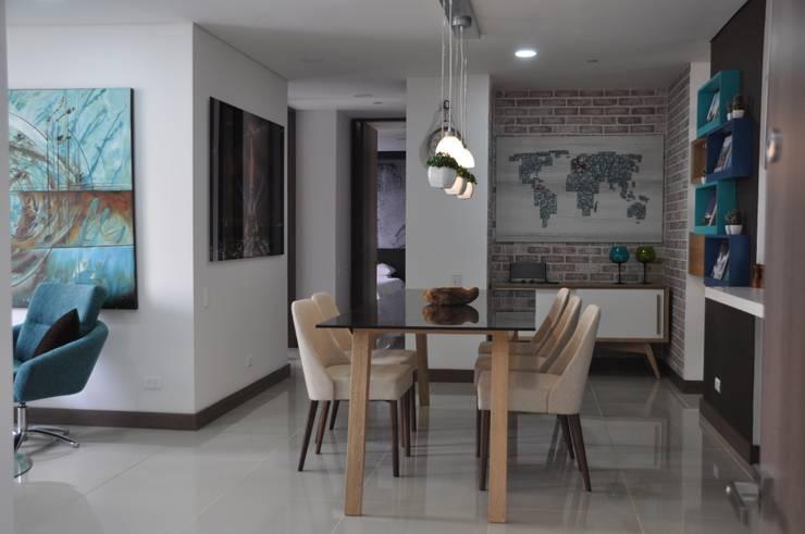 Fontliving. Viviendo tu propia historia: Comedores de estilo moderno por Natalia Mesa design studio