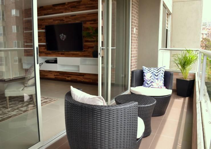 Origami: Balcones y terrazas de estilo  por Natalia Mesa design studio