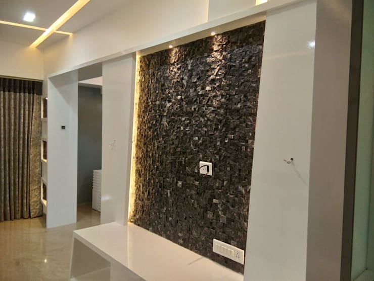Mr Gaurao Thakare: modern Living room by HOMEDIGILAND SERVICES PRIVATE LIMITED