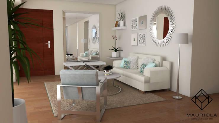 Diseño interior Sala : Salas / recibidores de estilo  por Mauriola Arquitectos