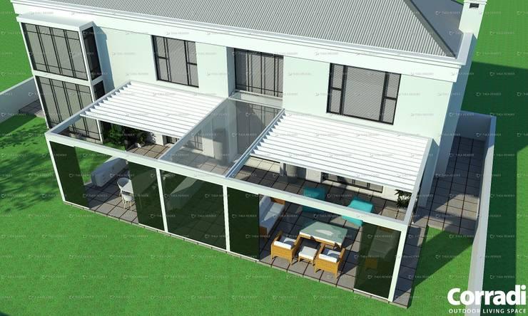 Pergotenda® Maestro  - with glass doors by Corradi Outdoor Living Space:  Patios by Corradi Outdoor Living Space