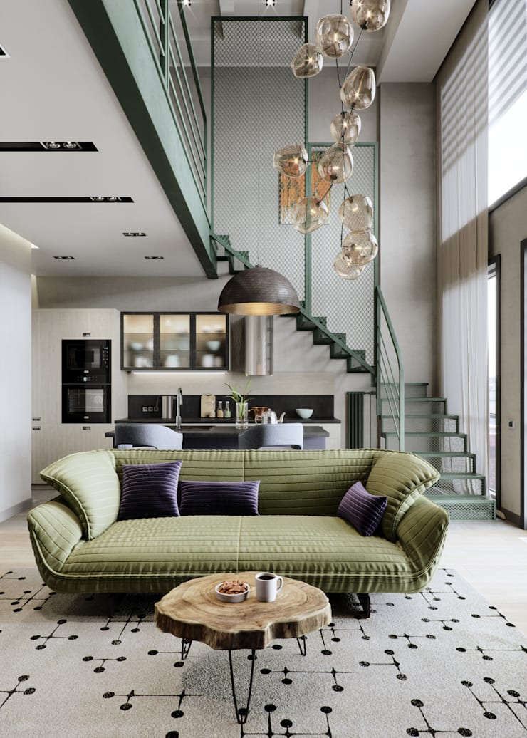 Living room by EJ Studio, Eclectic