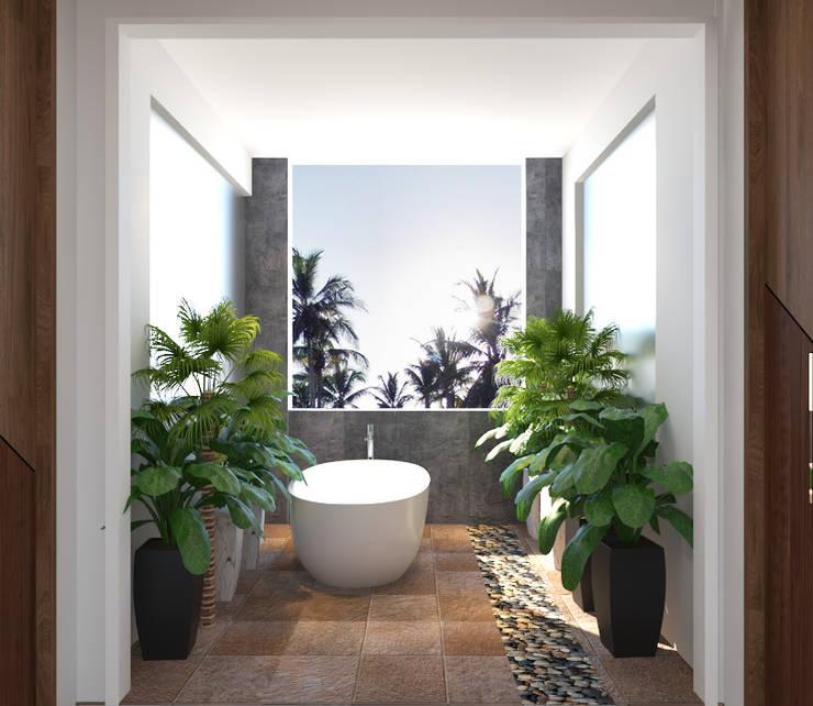 bathroom design with plants:   by Rhythm  And Emphasis Design Studio