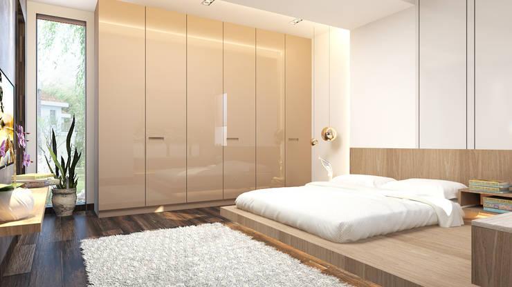 modern bedroom design :   by Rhythm  And Emphasis Design Studio
