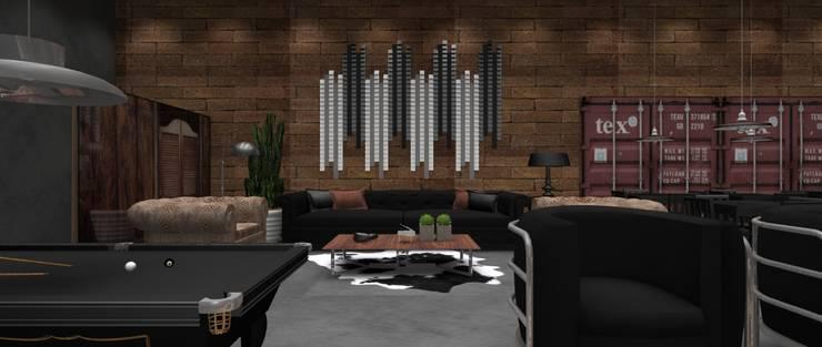 Pub Residencial 4: Bares e clubes  por Designer Paula Daiane dos Santhos