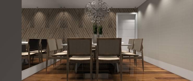 Sala Luxo 5: Salas de jantar  por Designer Paula Daiane dos Santhos