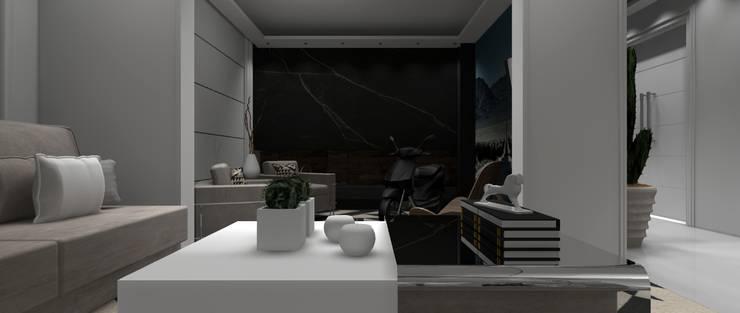 Sala Residencial 4: Salas de estar  por Designer Paula Daiane dos Santhos