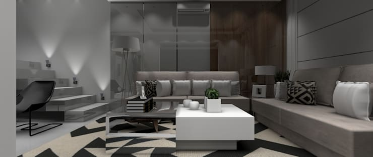 Sala Residencial 1: Salas de estar  por Designer Paula Daiane dos Santhos
