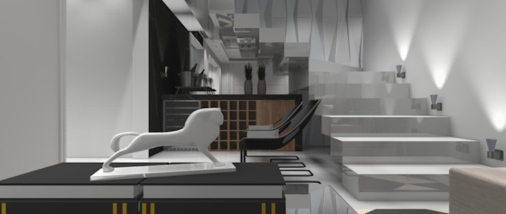 Sala Residencial 6: Salas de estar  por Designer Paula Daiane dos Santhos