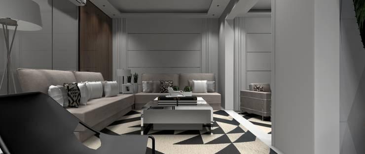Sala Residencial 5: Salas de estar  por Designer Paula Daiane dos Santhos