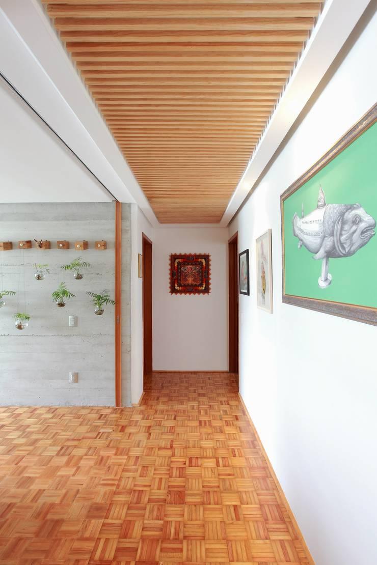 Remodelación departamento México D.F. .- Parque México Tropische gangen, hallen & trappenhuizen de All Arquitectura Tropical