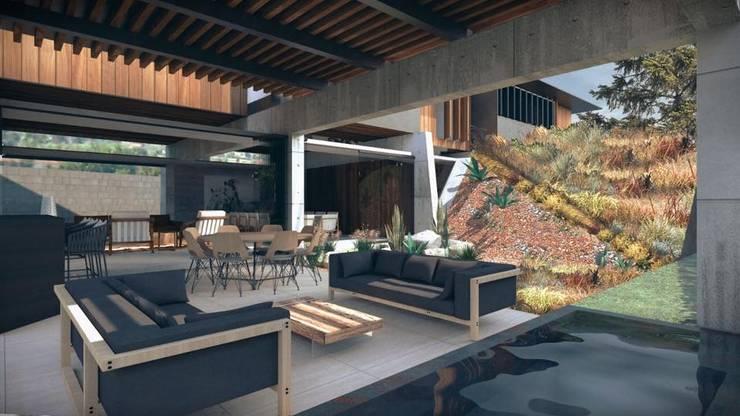 Casa Primavera: Terrazas de estilo  por HDA: ARQUITECTURA BIOCLIMATICA
