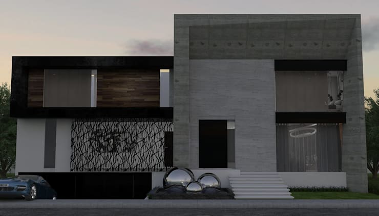 Casas de estilo  por HC Arquitecto