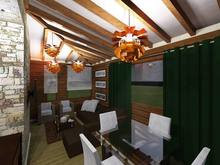 Comedores de estilo moderno por HC Arquitecto