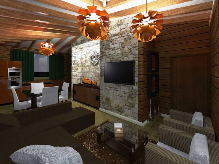 Salas / recibidores de estilo moderno por HC Arquitecto