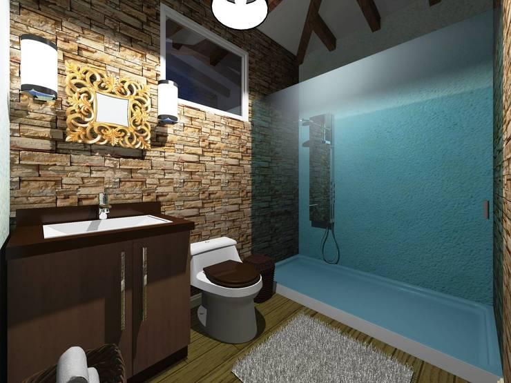 modern Bathroom by HC Arquitecto