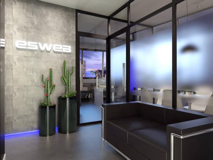 ESWEB: Espaços comerciais  por AOI Arquitetura