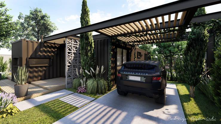 Residencial Modular - Contêiner: Casas  por Rodrigo Westerich - Design de Interiores