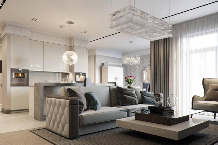 Квартира в ЖК Привилегия: Гостиная в . Автор – EJ Studio, Модерн