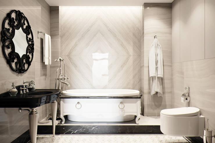 Квартира в ЖК Привилегия: Ванные комнаты в . Автор – EJ Studio, Модерн