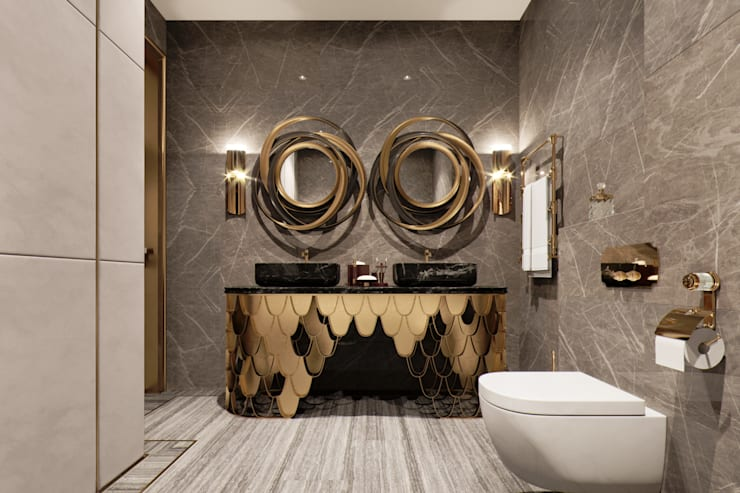 Bathroom by EJ Studio, Eclectic