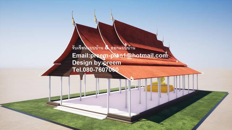 งานออกแบบวัด:  บ้านไม้ by รับเขียนแบบบ้าน&ออกแบบบ้าน