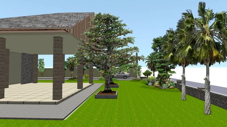 taman rumah tinggal 4 surabaya:  Garden  by TUKANG TAMAN SURABAYA - jasataman.co.id