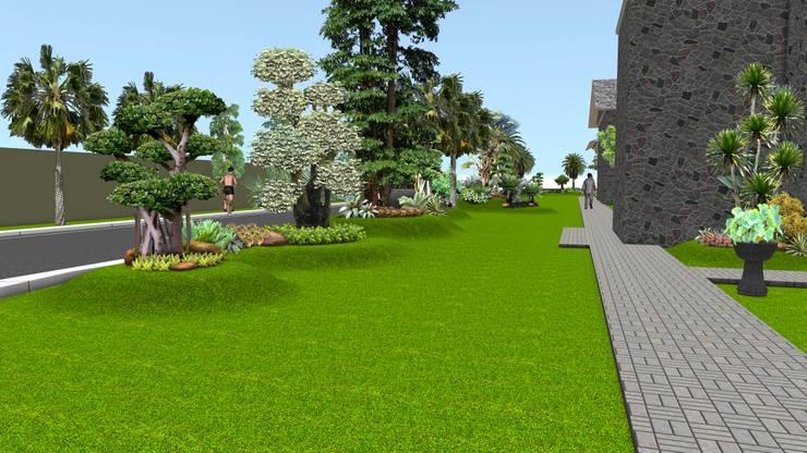 Taman rumah tinggal 6 surabaya:  Garden  by TUKANG TAMAN SURABAYA - jasataman.co.id