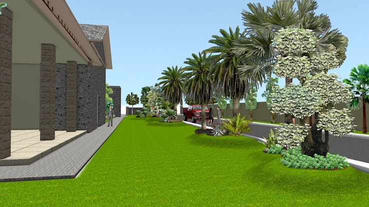Taman rumah 8 surabaya:  Garden  by TUKANG TAMAN SURABAYA - jasataman.co.id