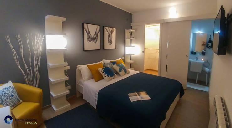 غرفة نوم تنفيذ Angela Paniccia Home Staging& Redesigner  - Consulente d'immagine immobiliare