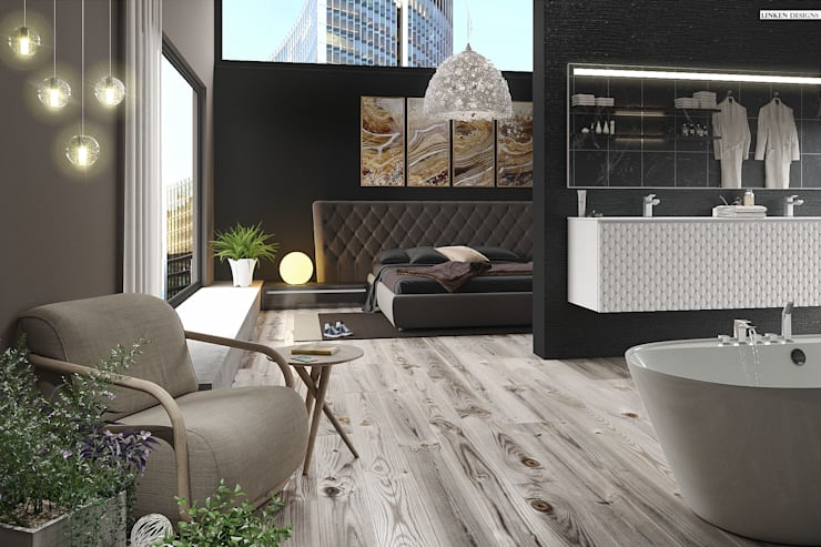 Luxury Hotel apartment :  Bedroom by Linken Designs