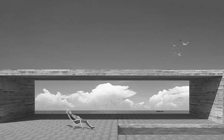 Vista al mar: Terrazas  de estilo  por mutarestudio Arquitectura