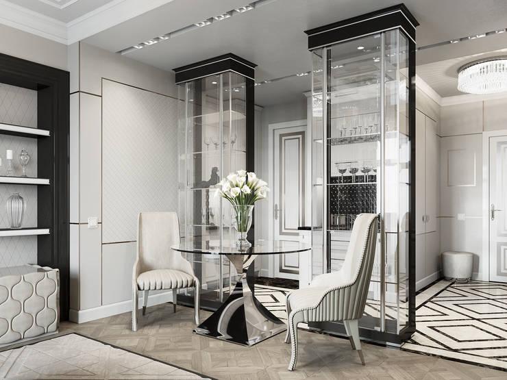 Квартира 59 метров в ЖК Привилегия: Гостиная в . Автор – EJ Studio