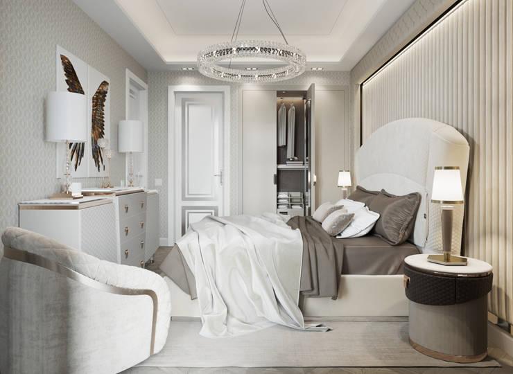 Квартира 59 метров в ЖК Привилегия: Спальни в . Автор – EJ Studio