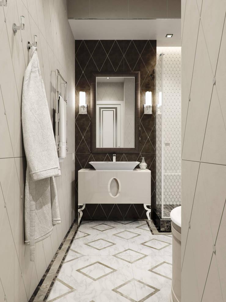 Квартира 59 метров в ЖК Привилегия: Ванные комнаты в . Автор – EJ Studio