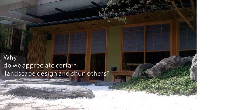 餐廳 日式庭園造景:  庭院 by 洄瀾柴房 景觀工作坊 貨櫃屋改造