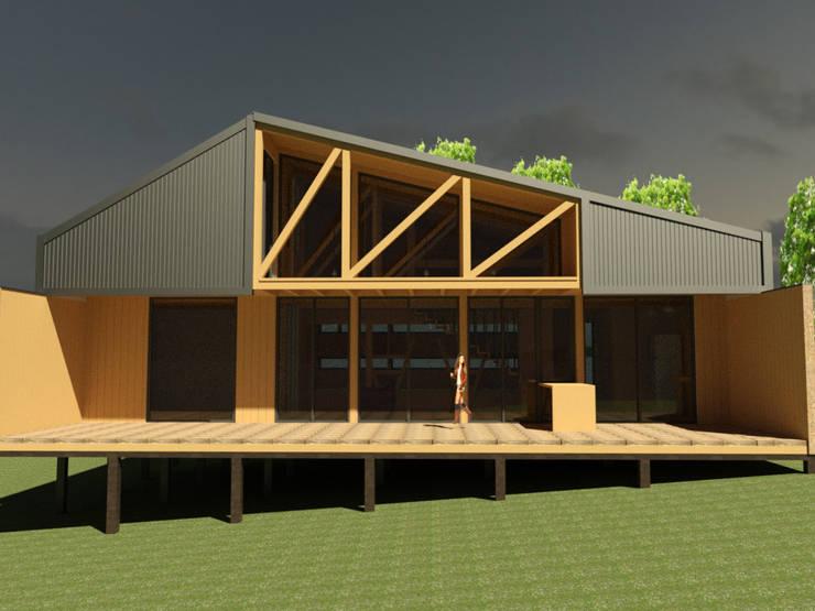 casa Quimera : Casas de madera de estilo  por ARCHIMINIMAL ESTUDIO