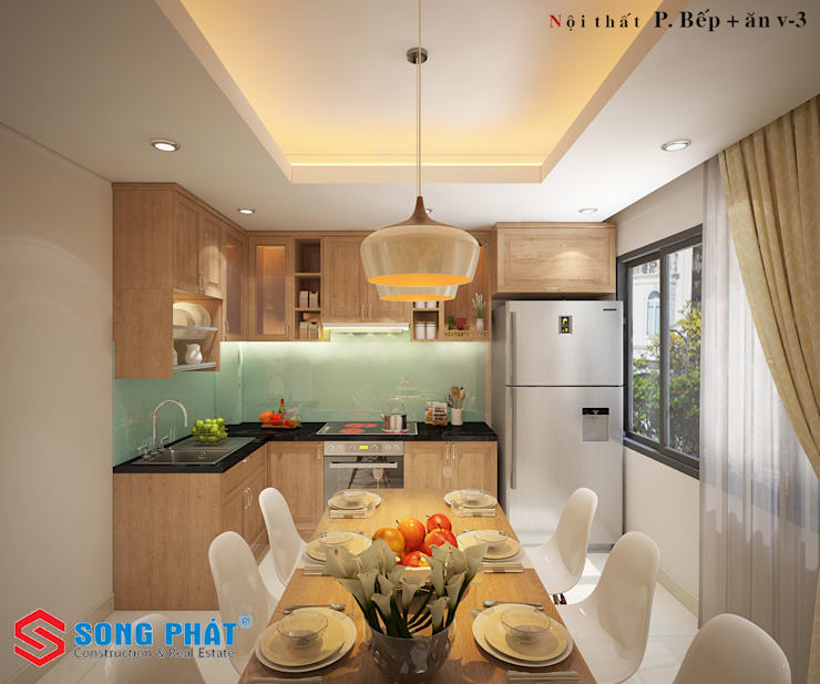 Built-in kitchens by Công ty Thiết Kế Xây Dựng Song Phát, Asian