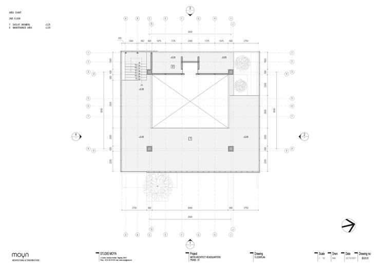 Denah lantai - 2:   by studio moyn