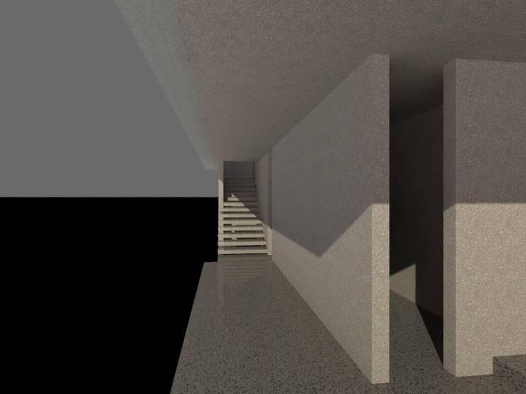 Tangga menuju lantai atas:   by studio moyn