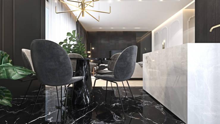 Luksusowy apartament dla singla: styl , w kategorii Jadalnia zaprojektowany przez Ambience. Interior Design