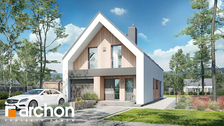 Casas de estilo moderno de ARCHON+ PROJEKTY DOMÓW Moderno