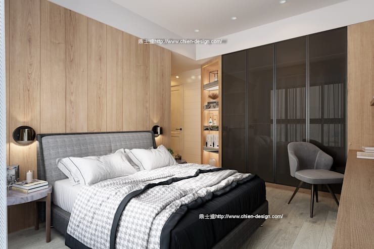 臥室設計 Modern style bedroom by 鼎士達室內裝修企劃 Modern Solid Wood Multicolored