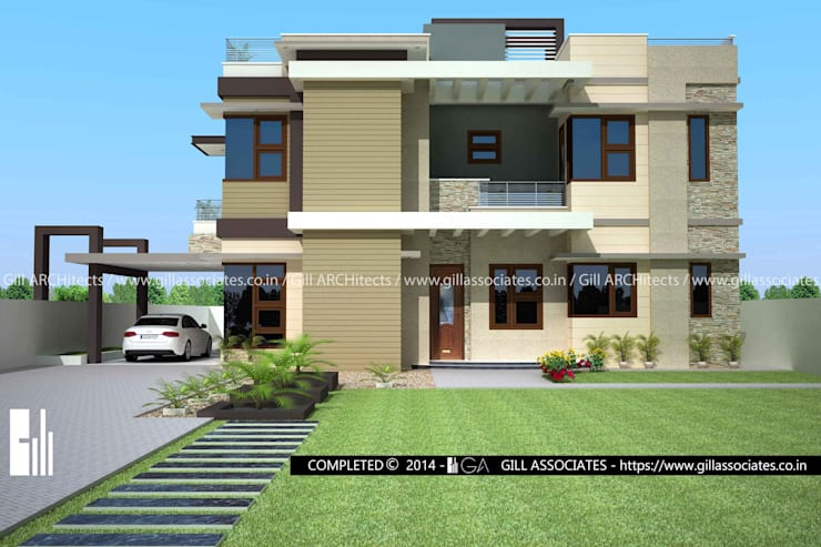 4 BHK VILLA: modern  by Gill Architects/Engineers,Modern